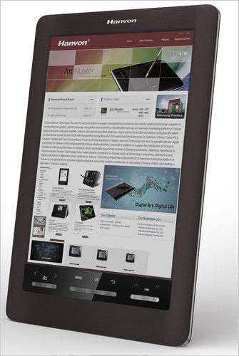 El Hanvon color e-reader, basado en tinta electrónica