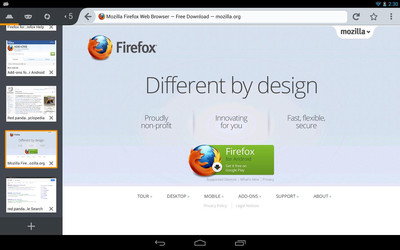 Disponible Firefox 24, con soporte para WebRTC en Android