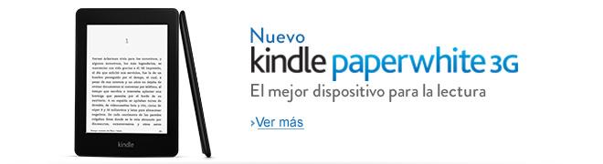 Anuncio del Kindle Paperwhite en la tienda de Amazon para Mexico