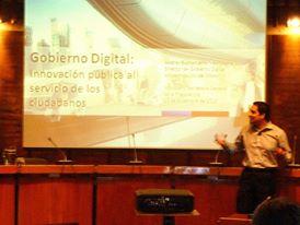 Presentación sobre el desarrollo del gobierno electrónico en la región por parte del ILPES, en Santiago de Chile.