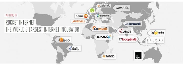 Empresas de comercio electrónico de todo el mundo impulsadas por la incubadora de empresas Rocket Internet