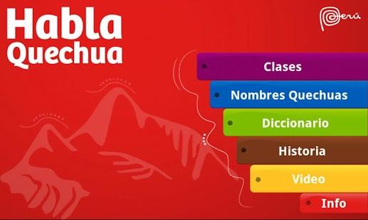 hablaQuechua