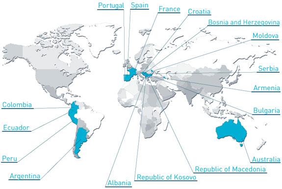 Países donde hay empresas certificadas con IT Mark