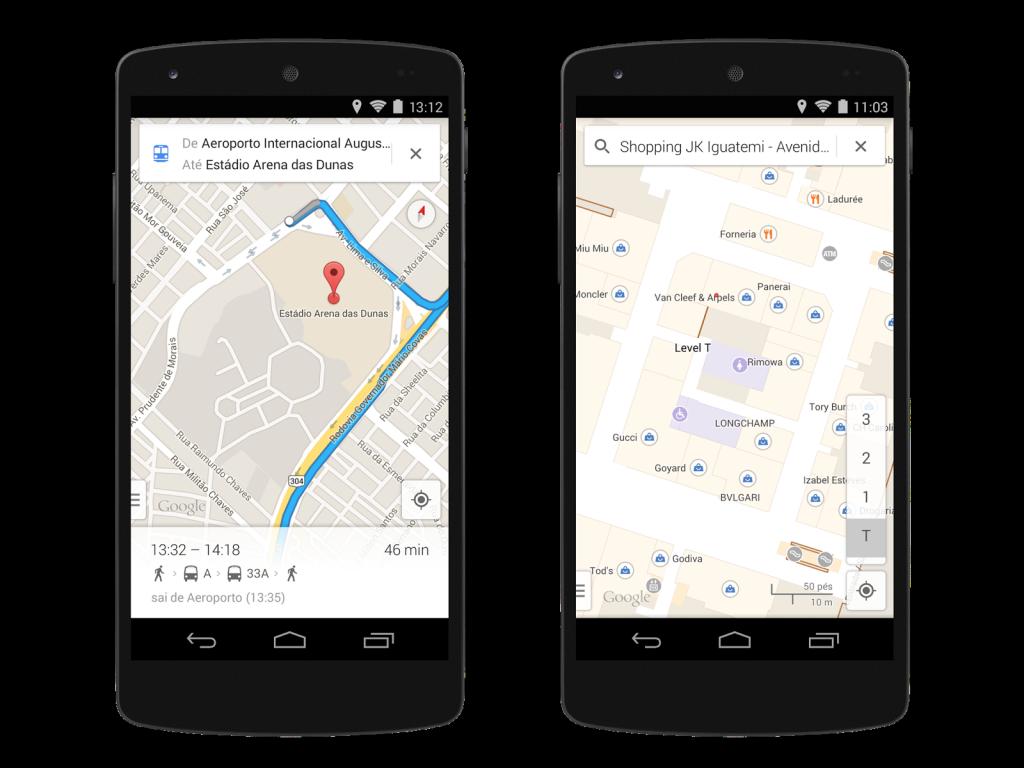 Ejemplo de los nuevos mapas de Google Street View para que los usuarios puedan moverse mejor en Brasil durante el Mundial