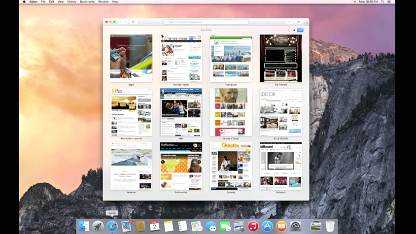 mac os x yosemite safari