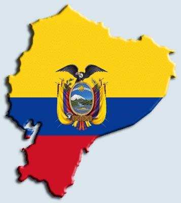ecuador mapa bandera