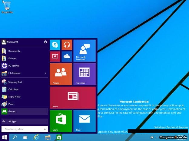 Así podría lucir la próxima versión de Windows, según ha filtrado la web alemana Computer Base.