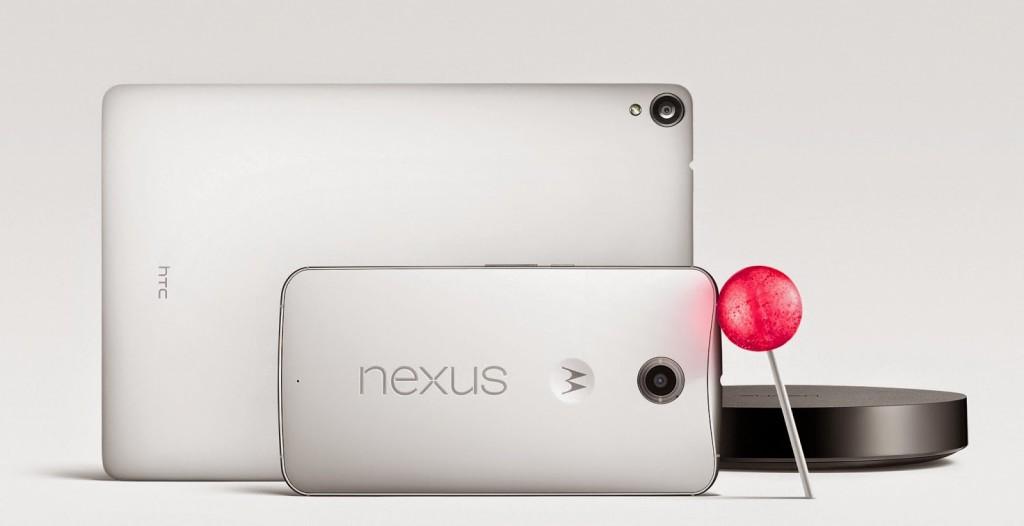 Nexus 6 nexus 9 lollipop google