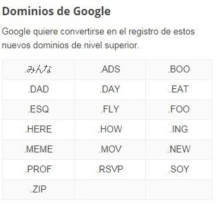 dominios google .soy
