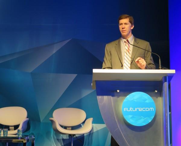 Brian Kracik, durante su intervención en Futurecom