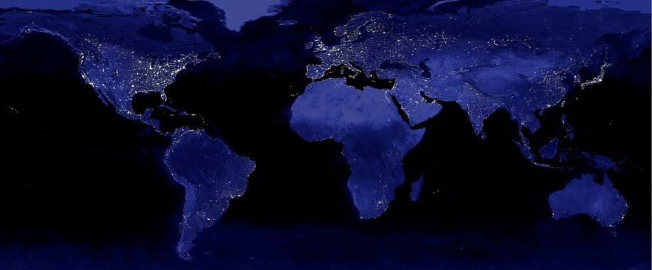 mapa mundo luces internet conectividad brecha digital