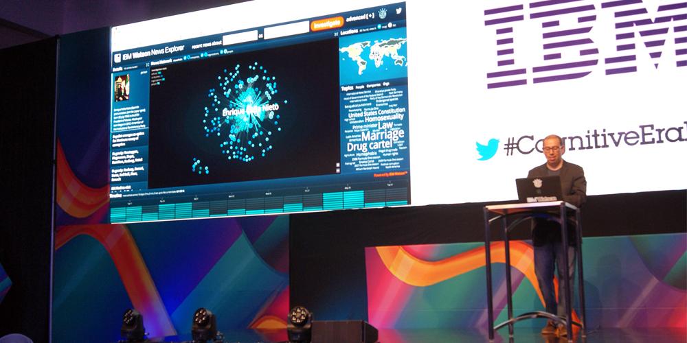 David Ruiz da un ejemplo del poder de IBM Watson en la búsqueda de una persona pública.