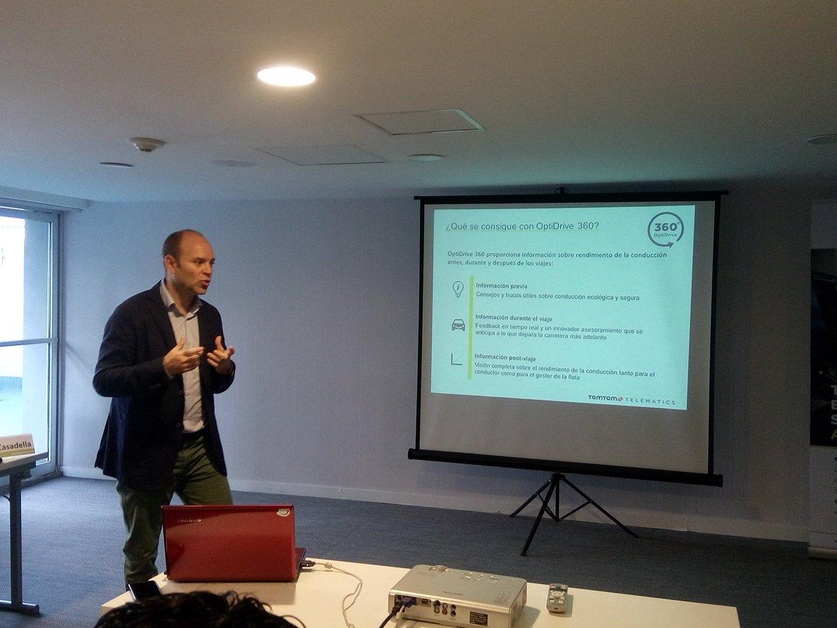 Andreu Casadella en la presentación de OptiDrive 360