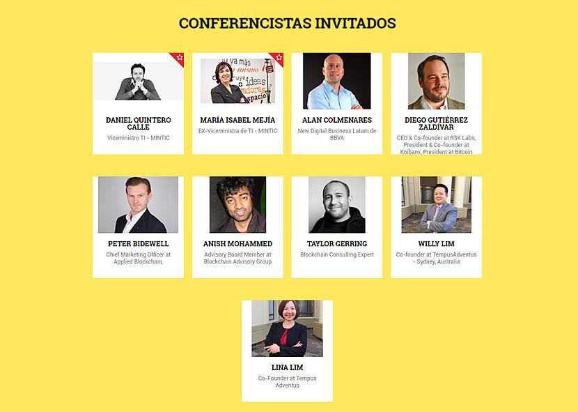 Invitados a la Conferencia de Blockchain en Cartagena